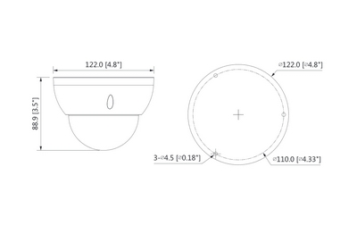 Mini dôme infrarouge 4 Mégapixels [DAHUA.CVI_HDBW1400R-Z-S3(2.7-12mm)]