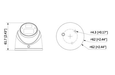 Mini dôme mobile 2 Mégapixels [DAHUA.CVI_HDW3200G-M(3.6mm)]