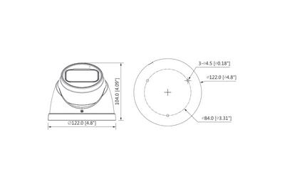 Mini dôme infrarouge 2 Mégapixels [KAM-CVI-MD2301T-Z-A]