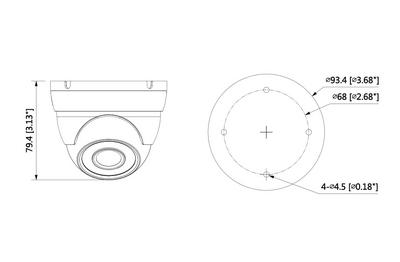 Mini dôme infrarouge 2 Mégapixels [DAHUA.CVI_HDW1200M-S5(2.8mm)]