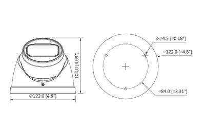 Mini dôme infrarouge 5 Mégapixels [DAHUA.CVI_HDW2501T-Z-A(2.7-13.5mm)]