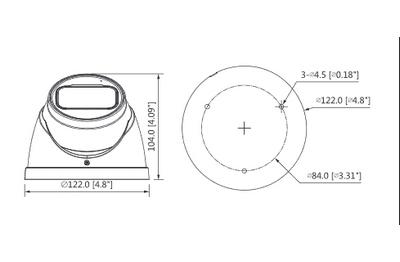 Mini dôme infrarouge 8 Mégapixels [DAHUA.CVI_HDW2802T-Z-A(3.7-11mm)]