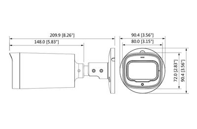 Caméra infrarouge 5 Mégapixels [DAHUA.CVI_HFW1500R-Z-IRE6-S2(2.7-12mm)]
