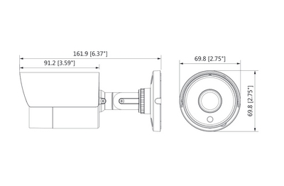 Caméra infrarouge 4 Mégapixels [KAM-CVI-BL4001SL-0280]