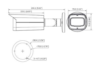 Caméra infrarouge 8 Mégapixels [DAHUA.CVI_HFW2802T-Z-A(3.7-11mm)]