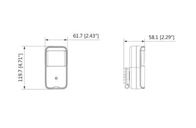 Caméra espionne 2 Mégapixels [DAHUA.CVI_HUM1220A-PIR(2.8mm)]