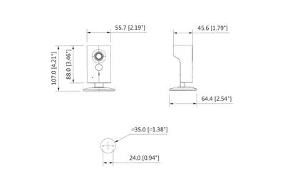 Mini caméra IP Wifi 3 Mégapixels [KAM-IP-C53P]