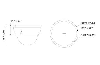 Mini dôme infrarouge IP 2 Mégapixels [DAHUA.IP_HDBW2231E-S-S2(2.8mm)]