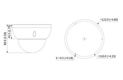 Mini dôme infrarouge IP 8 Mégapixels [DAHUA.IP_HDBW3841R-ZS(2.7-13.5mm)]
