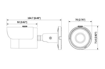 Caméra infrarouge IP 2 Mégapixels [KAM-IP-BL2301S]