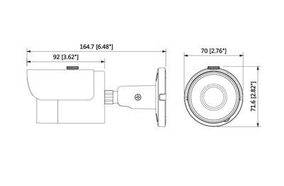 Caméra IP 4 Mégapixels DAHUA  [DAHUA_IPC-HFW1431S(3.6mm)]