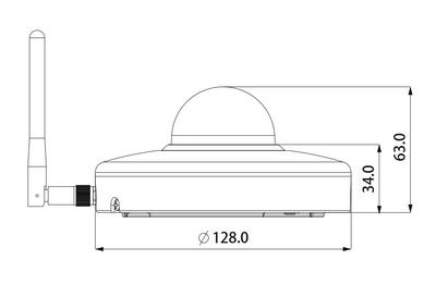 Dôme motorisé IP Wifi 2 Mégapixels [DAHUA.WIFI_SD1A203T-GN-W(2.7mm-8.1mm)]