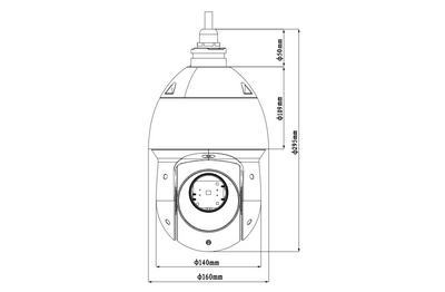 Dôme motorisé IP 2 Mégapixels [DAHUA_SD49225XA-HNR]