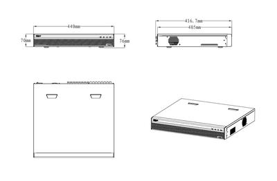 Enregistreur CVI 32 caméras [DAHUA.CVI_XVR5432L-I2]