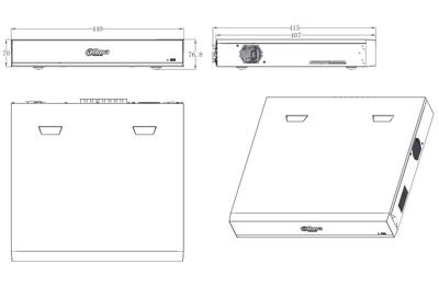 Enregistreur CVI 16 caméras [DAHUA.CVI_XVR7416L-4KL-X]