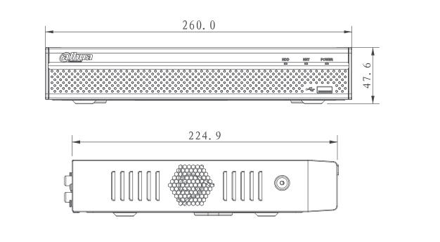 Enregistreur IP 4 caméras [DAHUA.IP_NVR4104HS-P-4KS2/L]