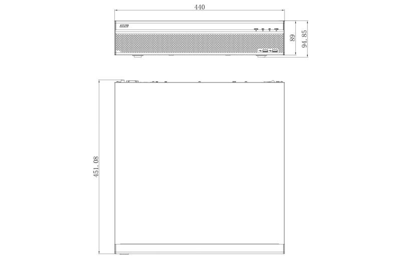 Enregistreur IP 32 caméras [DAHUA.IP_NVR608-32-4KS2]